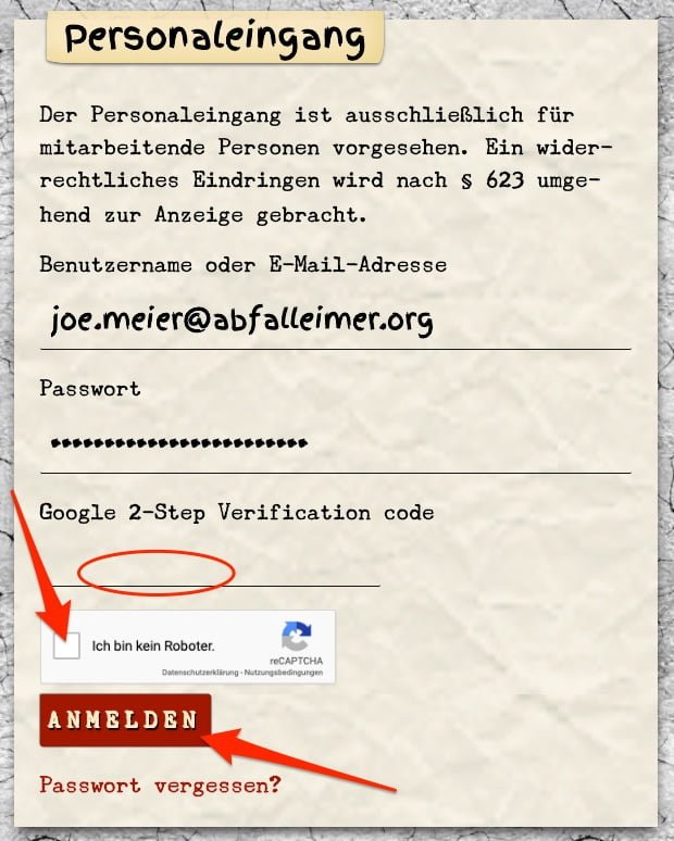 Anleitung 2FA: SMS Authentification